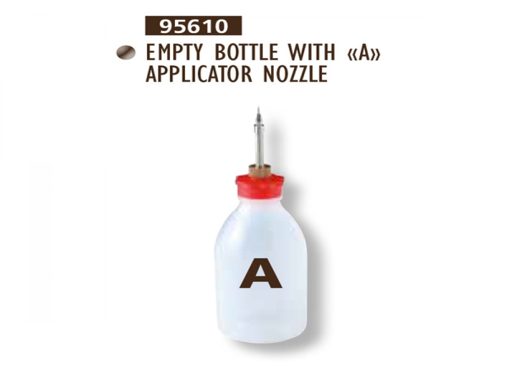 EMPTY BOTTLE WITH A APPLICATOR NOZZLE