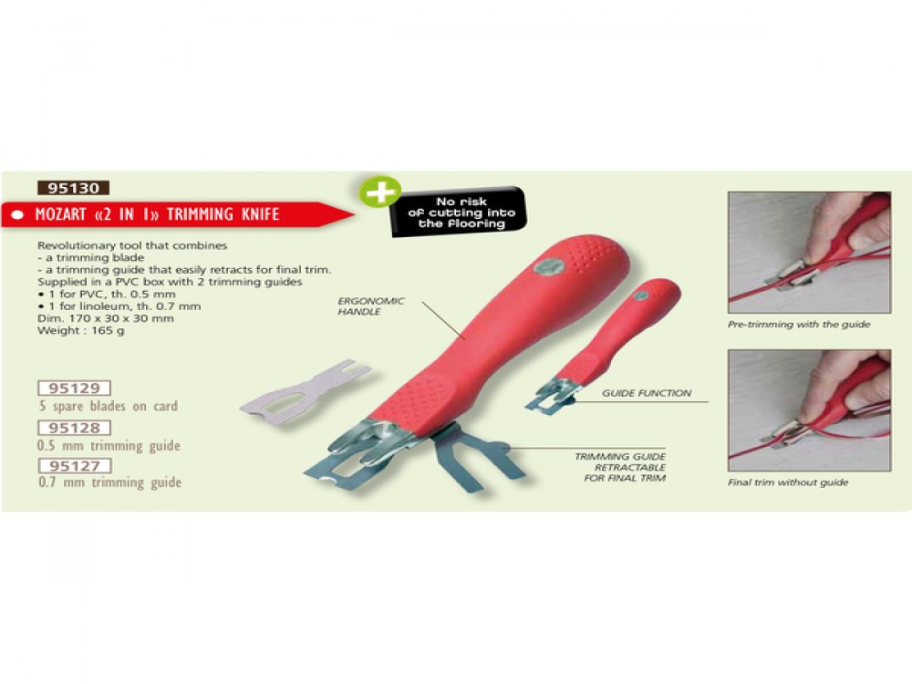 MOZART 2 IN 1 TRIMMING KNIFE